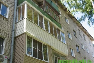 Отделка «под ключ» смежных балконов в «хрущевке» на ул. Л.Толстого в г.Туле