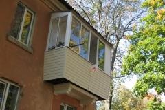 ремонт балкона с увеличением плиты