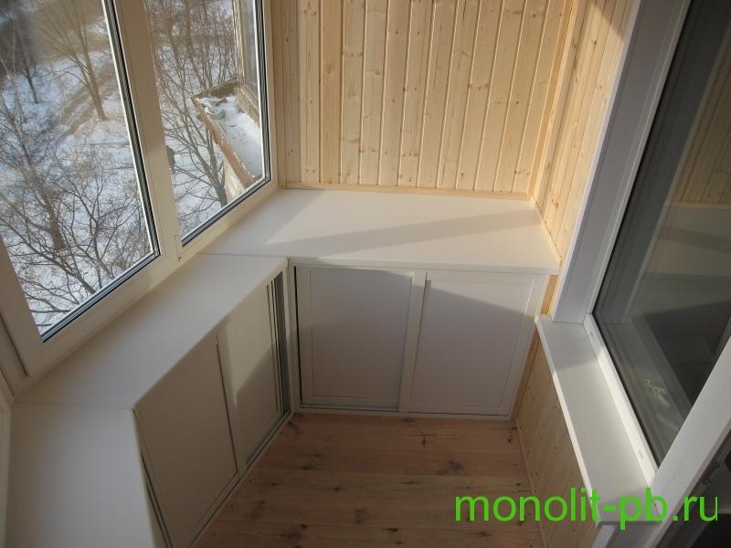 Отделка балконов в туле, цена на работы по отделке и фото га.