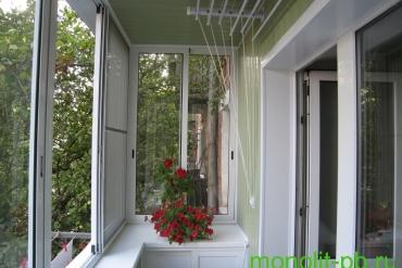 Отделка балкона в «хрущевке» вагонкой ПВХ «под ключ»