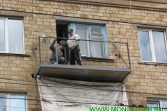 ремонт плиты и ограждения балкона