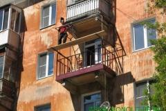 ремонт плиты балкона с применением навыков промышленного альпинизма