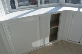 встроенные шкафы на лоджии