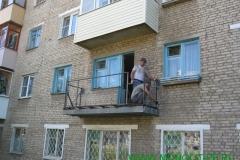 Ремонт плиты балкона, монтаж нового ограждения