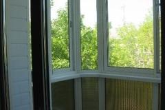 Выносной балкон с полным остеклением. Вид изнутри