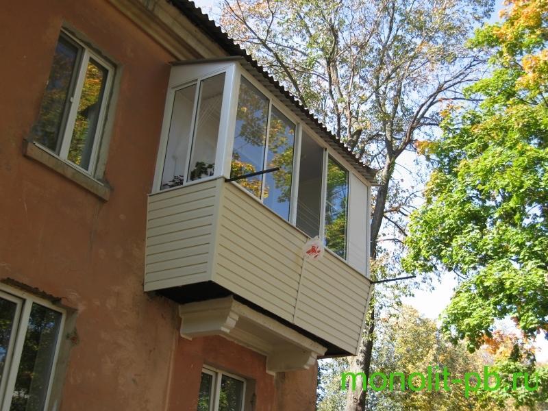 Балкон с выносом в туле, увеличение балкона цена, фото.