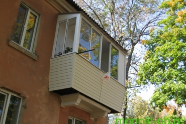 Балкон «под ключ» с выносом по подоконнику на три стороны ( предварительно с увеличением по плите) на ул. Циолковского, г.Тула.