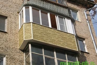 Выносной балкон со скошенными углами («евробалкон») на ул.Металлургов, г.Тула.