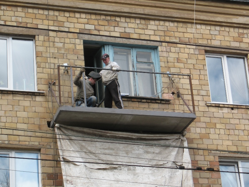Балкон на улице Мира, г. Тула