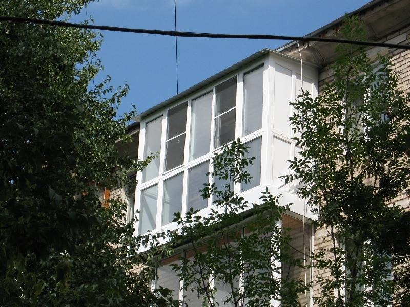Монтаж плиты балкона с «французским» остеклением ПВХ