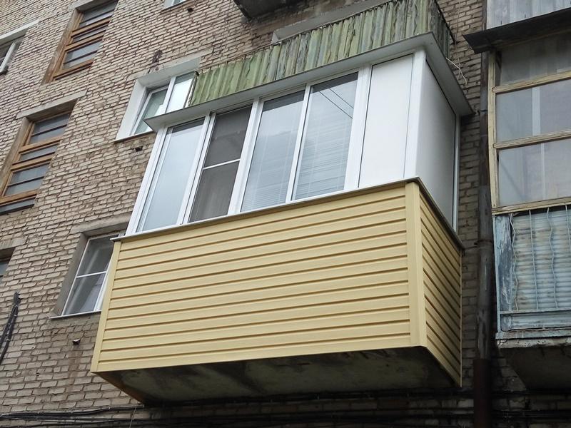 Балкон с выносом в «хрущевке